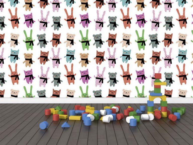 fotomural animales punteados 768x576 - Fotomurales & Papel Tapiz Infantiles