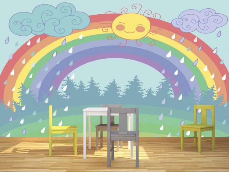 fotomural arcoiris 2 768x576 - Fotomurales & Papel Tapiz Infantiles