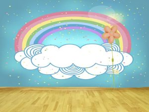 Fotomural Decorativo Infantil Arcoiris Encantado