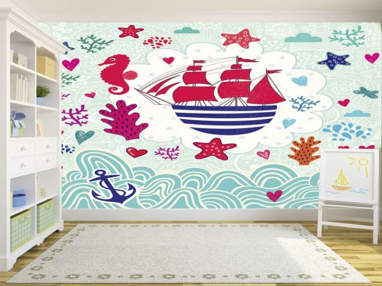 fotomural barco pirata 768x576 - Fotomurales & Papel Tapiz Infantiles
