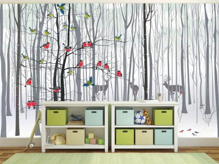 fotomural bosque colibris 768x576 - Fotomurales & Papel Tapiz Infantiles