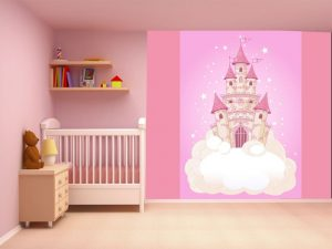 Fotomural Decorativo Infantil Castillo de Princesas