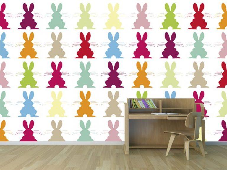 fotomural conejos silueta 768x576 - Fotomurales & Papel Tapiz Infantiles