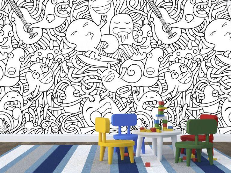 fotomural doodle 768x576 - Fotomurales & Papel Tapiz Infantiles