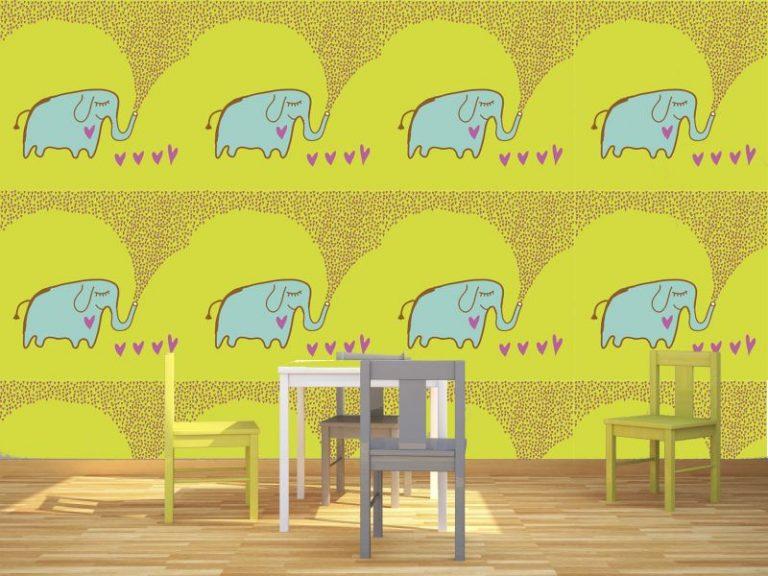 fotomural elefante amor 768x576 - Fotomurales & Papel Tapiz Infantiles