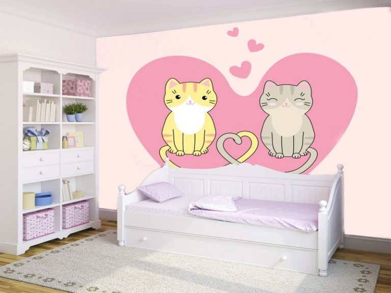 fotomural gatos enamorados 768x576 - Fotomurales & Papel Tapiz Infantiles