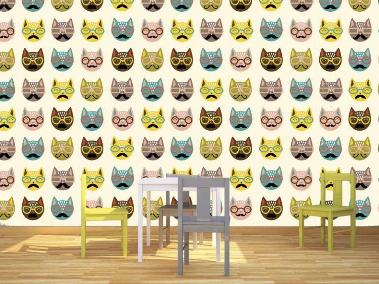 fotomural gatos hipster 768x576 - Fotomurales & Papel Tapiz Infantiles