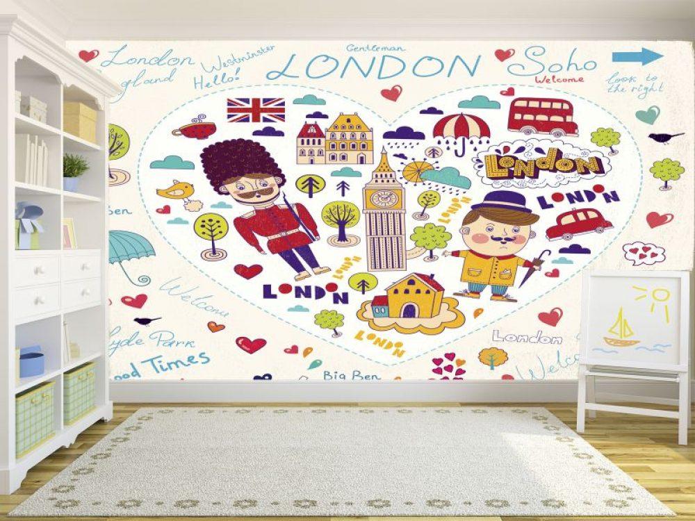 Fotomural Decorativo Infantil I Love London