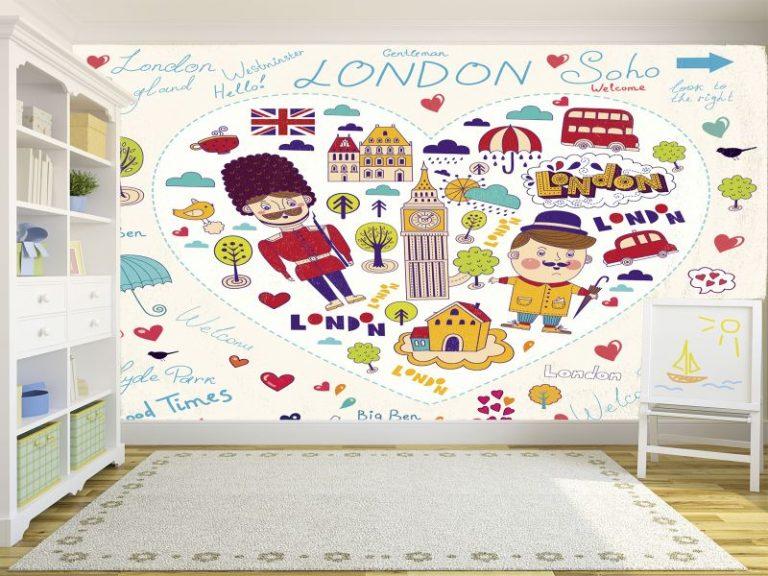 fotomural love london 768x576 - Fotomurales & Papel Tapiz Infantiles