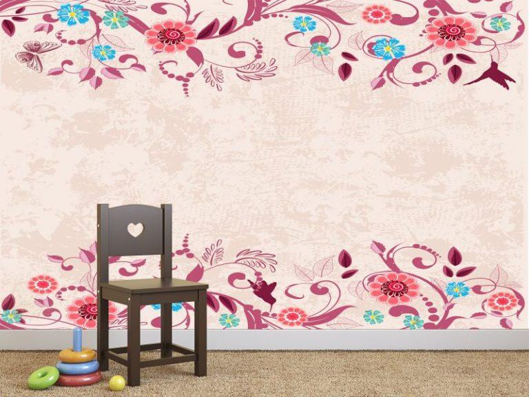 fotomural motivo floral 768x576 - Fotomurales & Papel Tapiz Infantiles