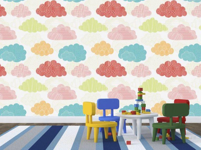 fotomural nubes de colores 768x576 - Fotomurales & Papel Tapiz Infantiles