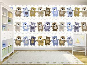 Fotomural Decorativo Infantil Cariño Osos