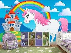 Fotomural Decorativo Infantil Unicornio Mágico
