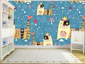 Fotomural Decorativo Infantil Rey Gato