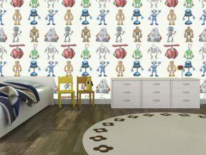 Fotomural Decorativo Infantil Amiguitos Robot 3