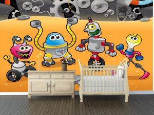 Fotomural Decorativo Infantil Amiguitos Robot 2