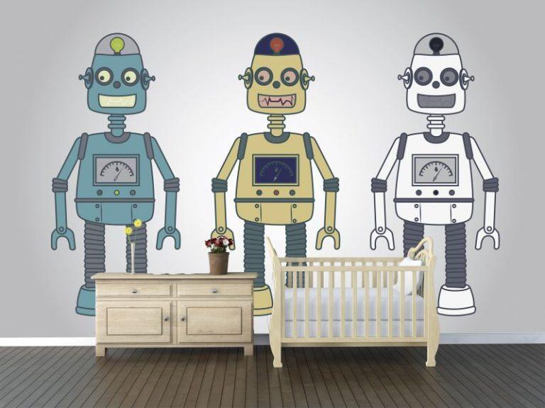 fotomural robots 768x576 - Fotomurales & Papel Tapiz Infantiles