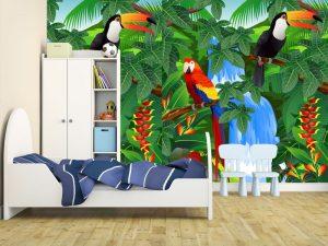 Fotomural Decorativo Infantil Selva Divertida