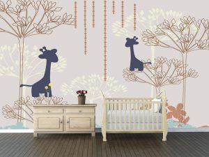 Fotomural Decorativo Infantil Girafas Encantadas