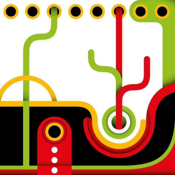 Abstracto verde y rojo