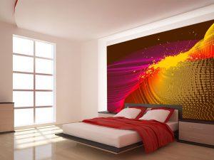 Fotomural Decorativo para Dormitorio: Abstracto Lineas