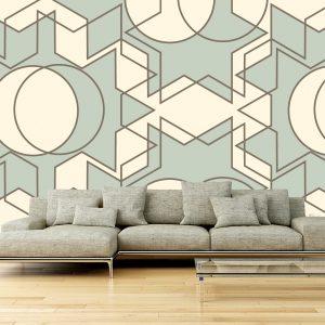 Fotomural Decorativo Diseños Abstractos: Soles minimalistas
