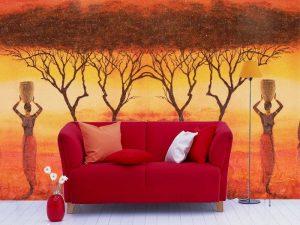 Fotomural Decorativo para Sala: África