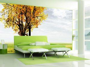 Fotomural Decorativo para Dormitorio: Arbol Amarillo