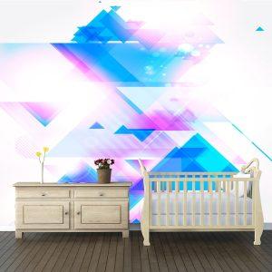 Fotomural Decorativo Diseños Abstractos: Azules fractales