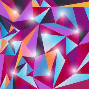 Fotomural Decorativo Diseños Abstractos: Rombos brillantes