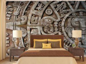 Fotomural Decorativo para  Dormitorio: Calendario Azteca