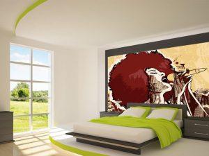 Fotomural Decorativo para Dormitorio: Cantante