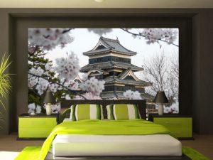 Fotomural Decorativo para Dormitorio: Casa Oriental