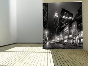 Fotomural Decorativo para Dormitorio: Ciudad B/N