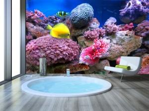 Fotomural Decorativo Baño: Corales