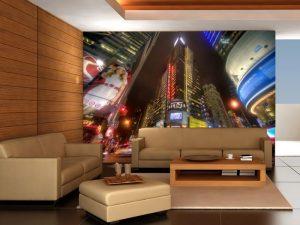 Fotomural Decorativo para Sala: Edificios Iluminados