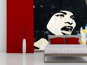 Fotomural Decorativo para Dormitorio: Stencil