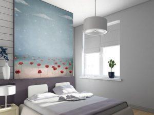 Fotomural Decorativo Dormitorio: Flores en Niebla