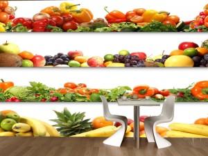 Fotomural Decorativo Cocina y Comedor: Frutas y Verduras