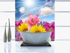 Fotomural Decorativo Baño: Girasoles
