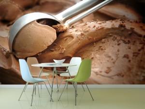 Fotomural Decorativo Cocina y Comedor: Helado de Chocolate