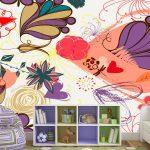 juego de flores moradas