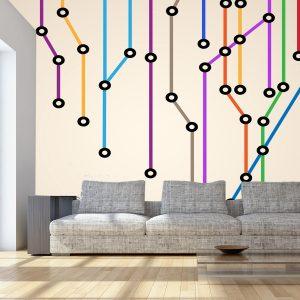 Fotomural Decorativo Diseños Abstractos: Lineas circuito