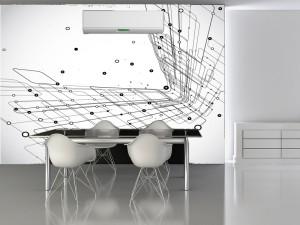 Fotomural Decorativo Diseños Abstractos: Lineas minimalistas