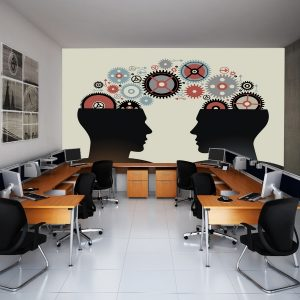 Fotomural Decorativo Oficina: Mentes Estrategas