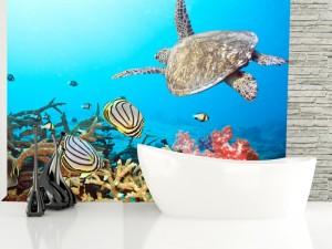 Fotomural Decorativo Baño: Mundo marino