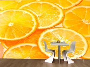 Fotomural Decorativo Cocina y Comedor: Naranjas Frescas