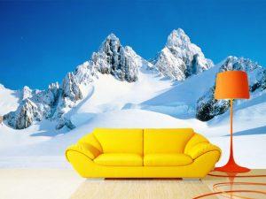 Fotomural Decorativo para  Sala: Pico Nevado
