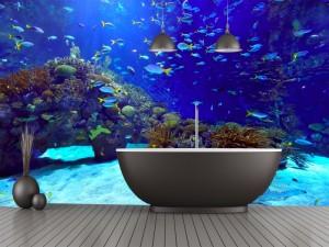 Fotomural Decorativo Baño:  Peces en el oceano