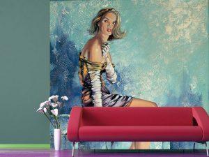 Fotomural Decorativo para Sala: Retrato Mujer